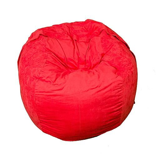 Elephant Kumo Round Bean Bag H800xD1000mm Vibrant Red