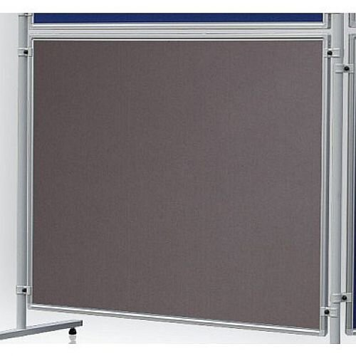 Double Sided Felt Notice Board 1200 x 1500mm Franken Eco Partition System Module Grey
