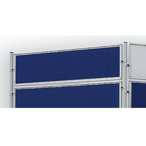 Double Sided Felt Notice Board 1200 x 300mm Franken Eco Partition System Module Blue