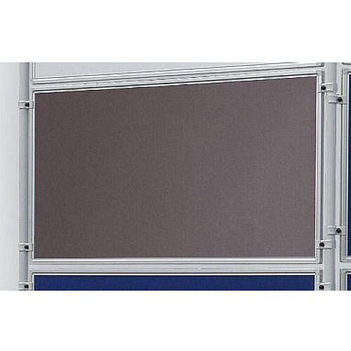 Double Sided Felt Notice Board 1200 x 600mm Franken Eco Partition System Grey Module