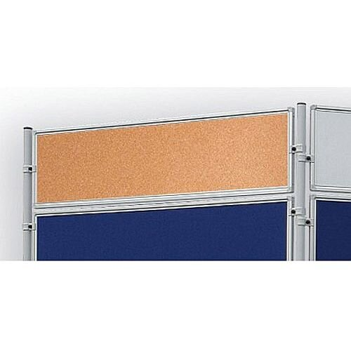 Double Sided Cork Notice Board 1200 x 300mm Franken Eco Partition System Module