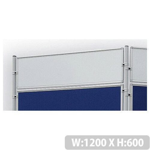 Double Sided Magnetic Whiteboard 1200 x 600mm Franken Eco Partition System Module