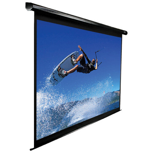 """Elite Electric Standard 110"""" Motorized Ceiling Mounted Projection Screen (244 x 137cm) Size - 16:9 Aspect Ratio - Active 3D, 4K Ultra HD, and HDR Ready - Remote Control"""
