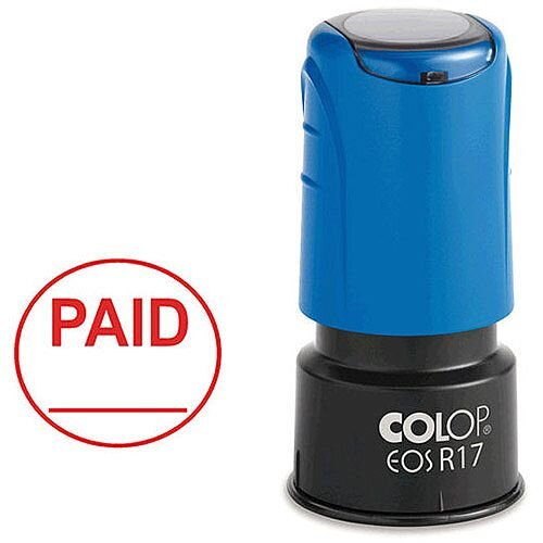 Colop EOS R17 Paid Self-Inking Circular Stamp C109531PAI