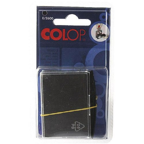 Colop E/2600 Replacement Pad Black E2600Black Pk 2