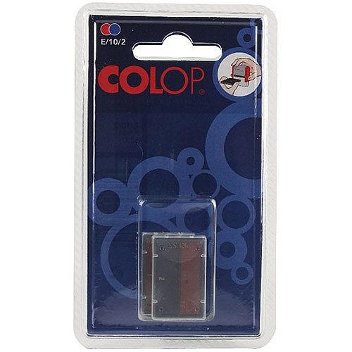 Colop E/10/2 Replacement Pad Blue/Red Pk 2