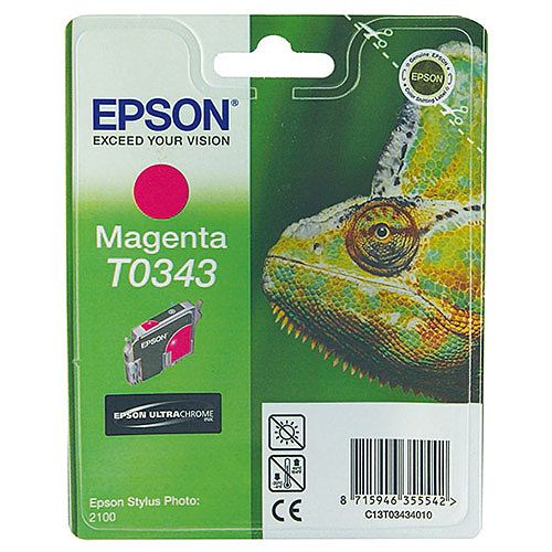 Epson Stylus Photo 2100 Inkjet Cartridge Magenta 17ml C13T034340 C13T03434010