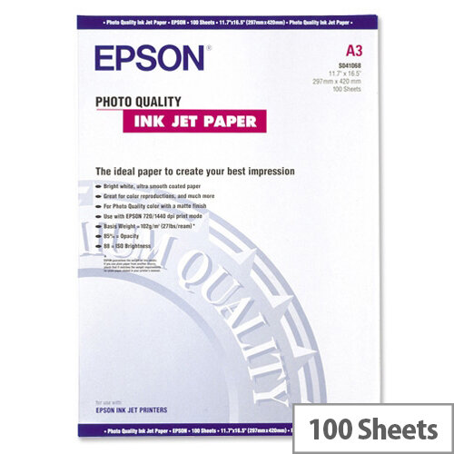 Epson A3 Matt Photo Paper (Pack of 100)
