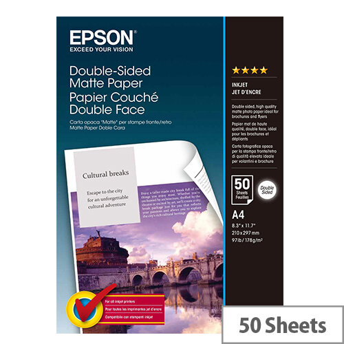 Epson A4 Matte Double-Sided Photo Paper (Pack of 50)