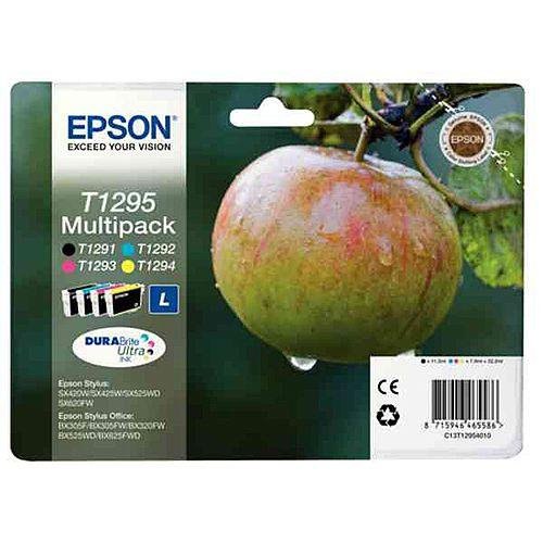 Epson T1295 4 Colour High Capacity Inkjet Cartridges Apple Series C13T12954010 C13T12954012