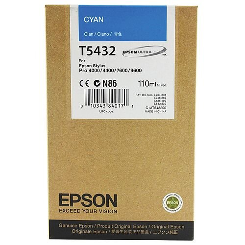 Epson Stylus Photo 7600 Inkjet Cartridge Cyan C13T543200