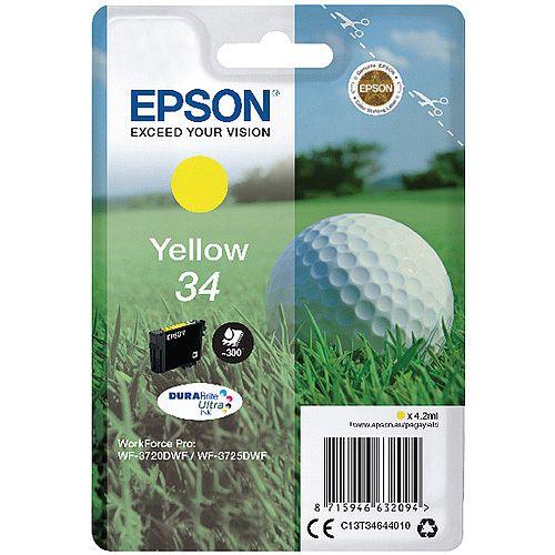Epson 34 Yellow Singlepack DURABrite Ultra Ink (C13T34644010)
