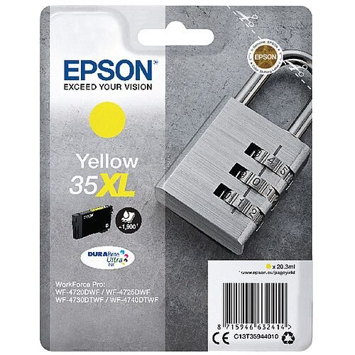 Epson Singlepack Yellow 35XL DURABrite Ultra Ink