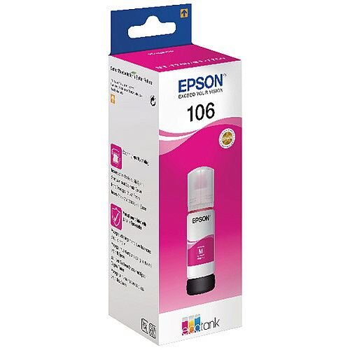 Epson 106 EcoTank Magenta Ink Bottle C13T00R340
