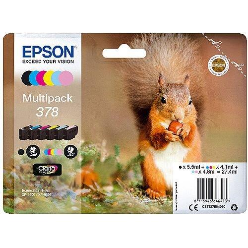 Epson 378 Photo HD Inkjet Cartridge Pack of 6 C13T37884010