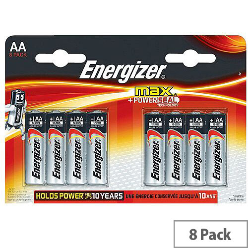 Energizer MAX E91 AA Alkaline Batteries (Pack of 8)