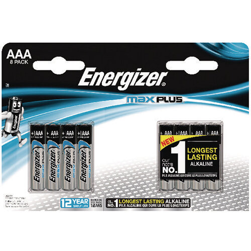 Energizer Max Plus AAA Batteries (Pack of 8) E301322500