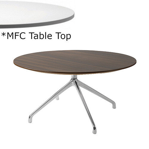 Frovi ERA Round Coffee Table With 4 Star Chrome Base &MFC Top Dia800xH420mm - Minimalist Design MFC Melamine Surface