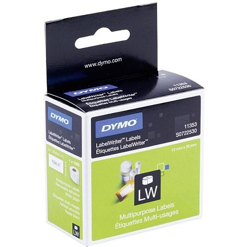 Dymo 11353 Labels Multipurpose 24x12mm Pack 1000