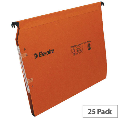 Esselte Orgarex Lateral 330mm File 15mm V Base Pack of 25 21628