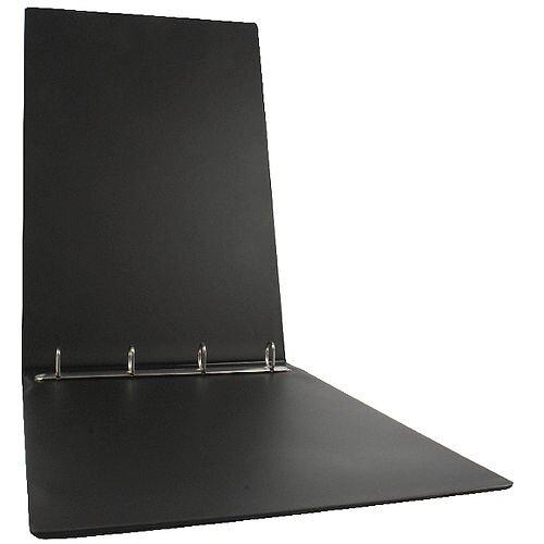 Esselte Binder A3 4 O-Ring 25mm Landscape Polypropylene Black 68737