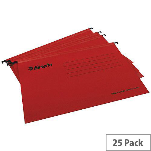 Esselte Red Pendaflex Suspension File A4 Pack of 25