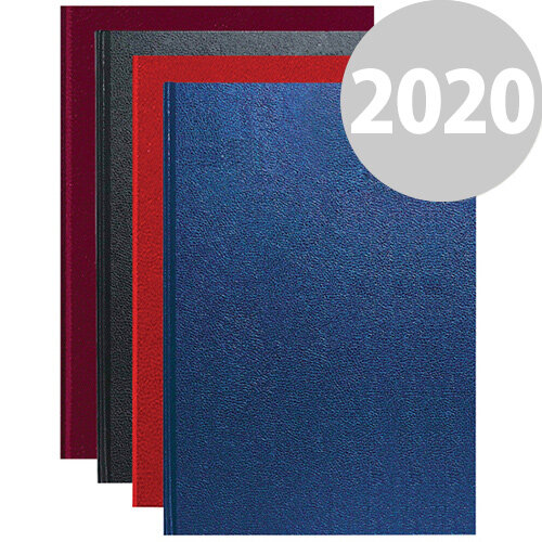 Essentials 2020 Appointment Diary Day to Page Casebound and Sewn Vinyl Coated Board A4 Assorted Colour
