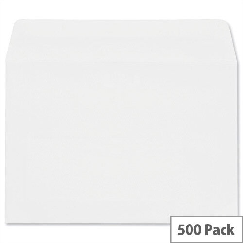 Plus Fabric C6 White Envelopes Press Seal Wallet Pack 500