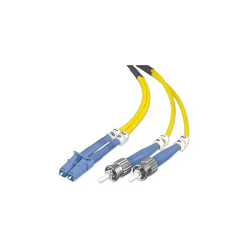 Belkin Fibre Optic Network Cable for Network Device 1 m 2 x LC Male Network  2 x ST Male Network Patch Cable Yellow F2F802L0-01M