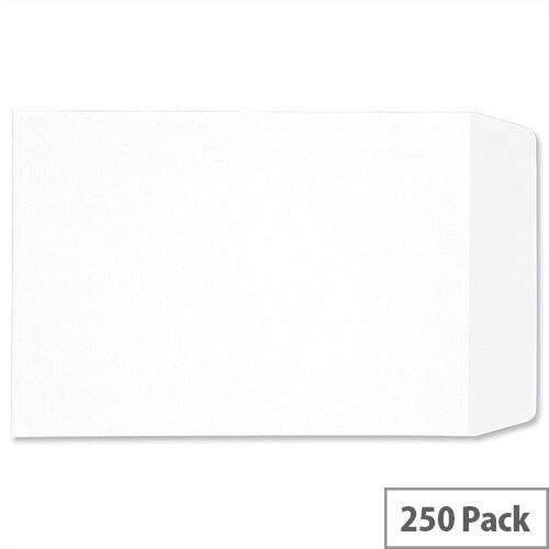 C4 White Envelopes Pocket Press Seal 90gsm Pack 250 5 Star Ref F90014