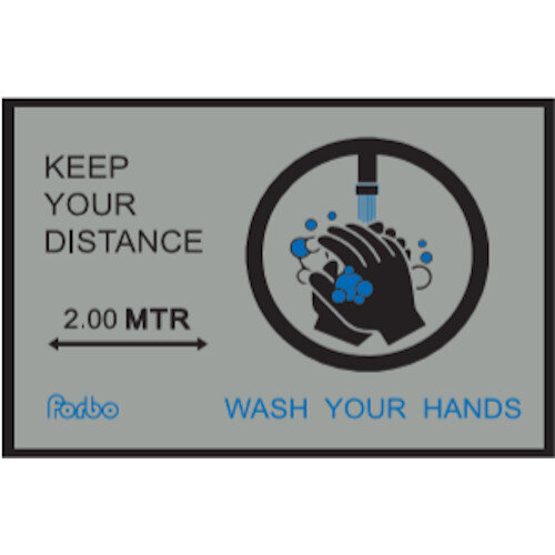 Keep Your Distance - Wash Your Hands Nylon Non Slip Mat 1.15m x 0.8m