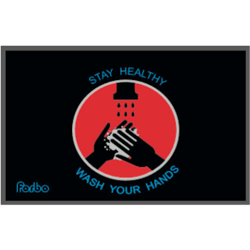 Stay Healthy - Wash Your Hands Nylon Non Slip Mat 1.15m x 0.8m