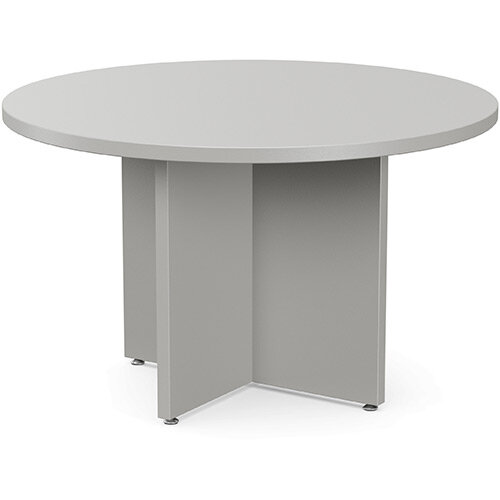 Fermo Round 1200mm Diameter Meeting Room Table With Cross Panel Base Grey