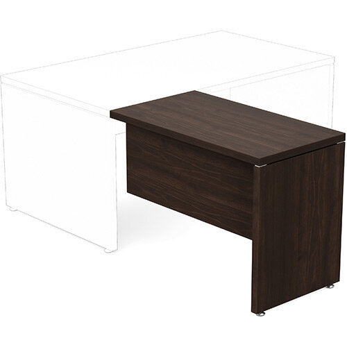Fermo Executive Return Desk Add-On Unit Dark Walnut