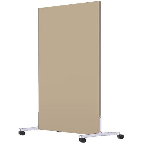 Free Standing Screen Melamine 18mm panel h1200mmx1000mm Mobile Castors Beech