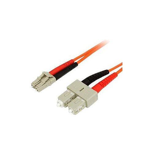 StarTech 1m Fiber Optic Cable Multimode Duplex 62.5/125 LSZH LC/SC OM1 LC to SC Fiber Patch Cable 2 x LC Male Network 2 x SC Male Network Orange