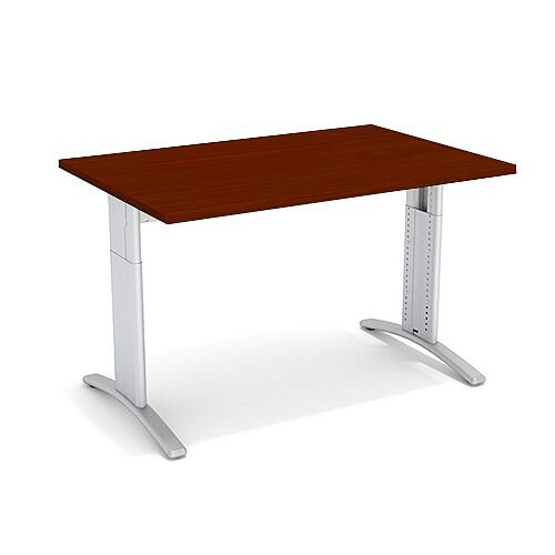 Flex R Height-Adjustable Rectangular Desk 1200x800x640-840mm Walnut