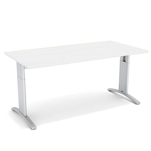 Flex R Height-Adjustable Rectangular Desk 1600x800x640-840mm White