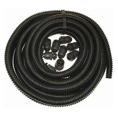 25mm PVC Flexible 10m Plastic Conduit With 10 Glands &Locknuts