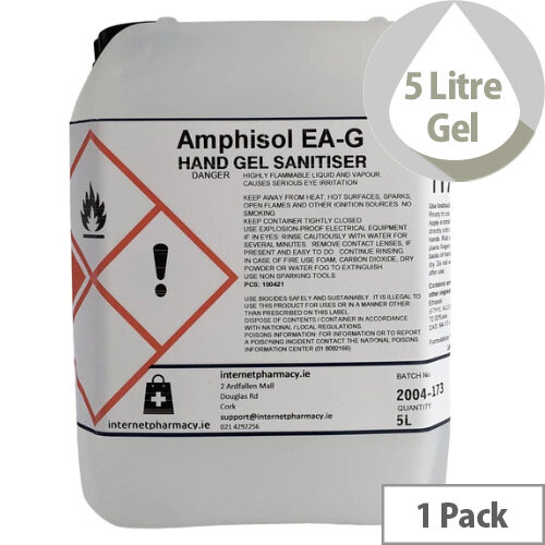 Amphisol Hand Sanitiser 70% Alcohol Gel 5L