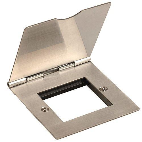 1 Gang Data/Media Stainless Steel Socket 50mmx50mm