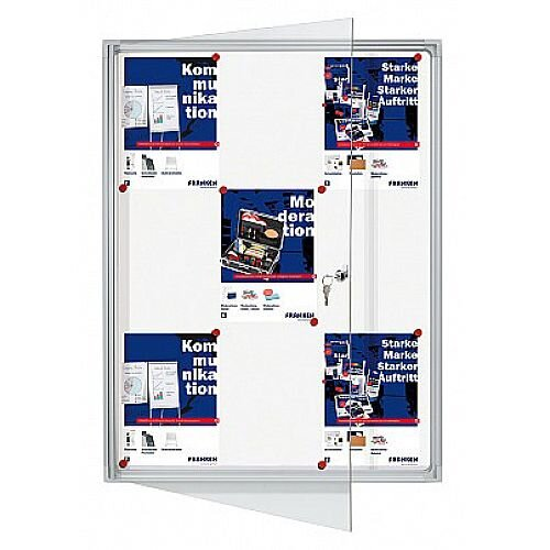Franken Flat Display Cases ValueLine Magnetic White 9 x A4 FSA9