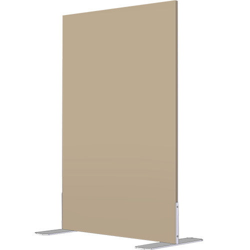 Free Standing Screen Melamine 18mm panel h1600mmx1000mm Fixed Foot Beech