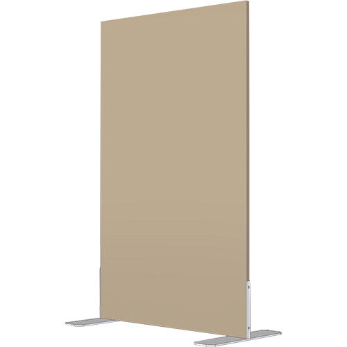 Free Standing Screen Melamine 18mm panel h1600mmx800mm Fixed Foot Beech
