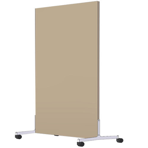 Free Standing Screen Melamine 18mm panel h1600mmx1000mm Mobile Castors Beech