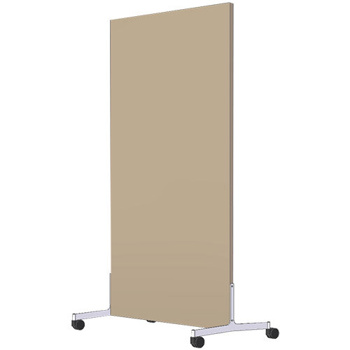 Free Standing Screen Melamine 18mm panel h1600mmx800mm Mobile Castors Beech