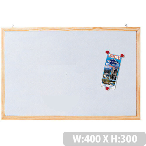 Franken Magnetic Whiteboard with Wooden Frame 400 x 300mm