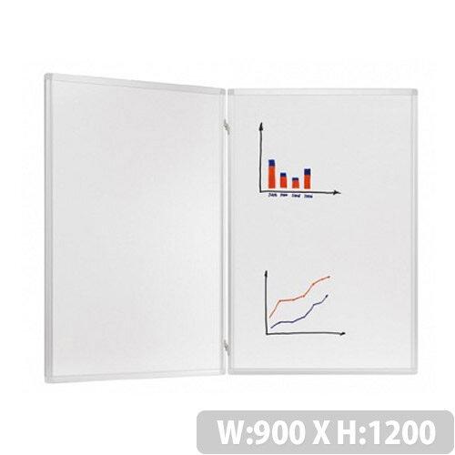 Franken Trio Enamelled Folding Whiteboard System 900 x 1200mm