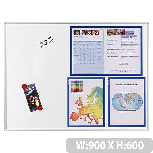 Franken ECO Magnetic Whiteboard Lacquered Steel 900 x 600mm White SC4102