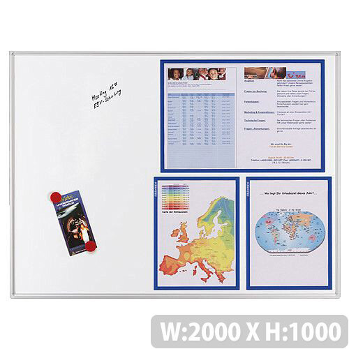 Franken ECO Magnetic Whiteboard Lacquered Steel 2000 x 1000mm White SC4104
